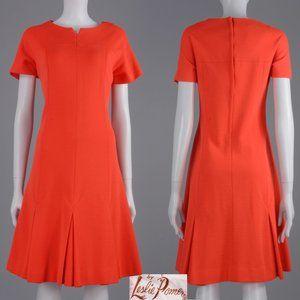 XL Vintage 60s Leslie Pomer Neon MCM Mod Dress